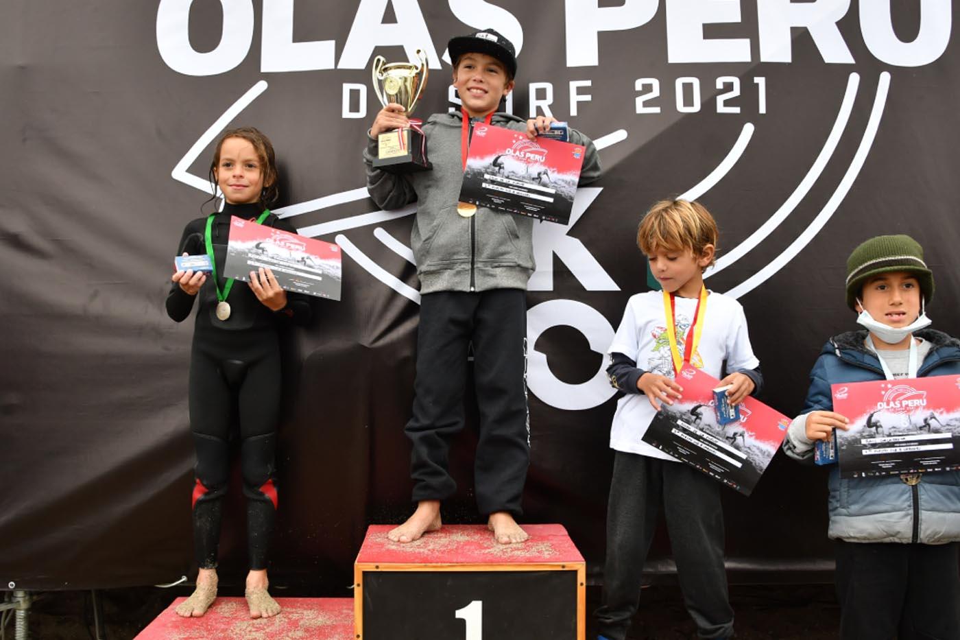 San Bartolo se lució con tremendos tablistas en la 1era fecha del Circuito Semillero Olas Peru 2021